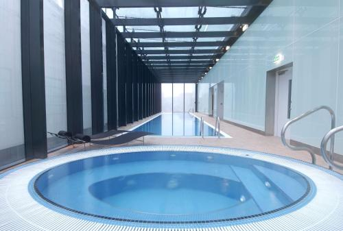 The swimming pool at or near Hilton Manchester Deansgate