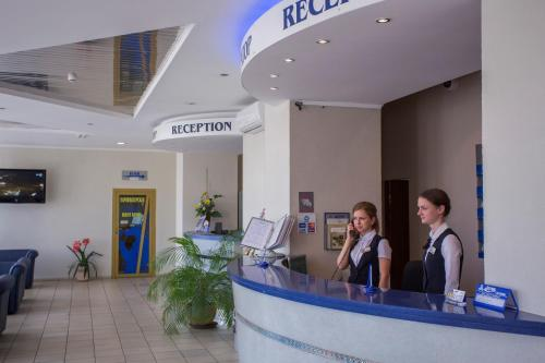 The lobby or reception area at Sputnik Hotel