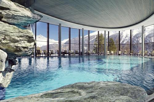 The swimming pool at or close to Badrutt's Palace Hotel St Moritz