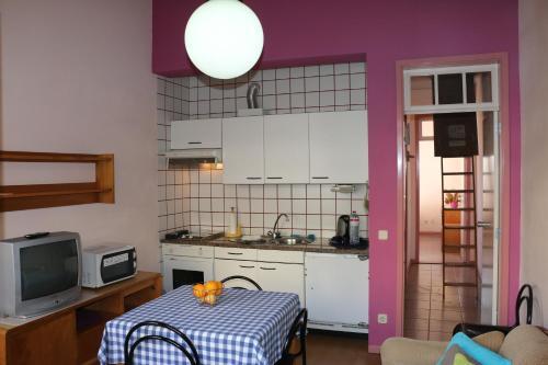 Küche/Küchenzeile in der Unterkunft Hospedaria Verdemar