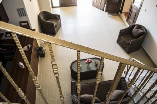 Χώρος καθιστικού στο Sappho Hotel