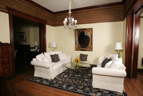 A seating area at Morgan State House Inn