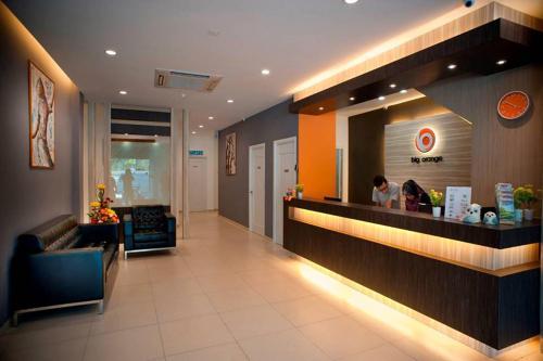 The lobby or reception area at Big Orange Hotel Sungai Petani