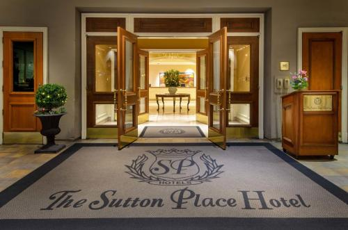 The facade or entrance of The Sutton Place Hotel Vancouver