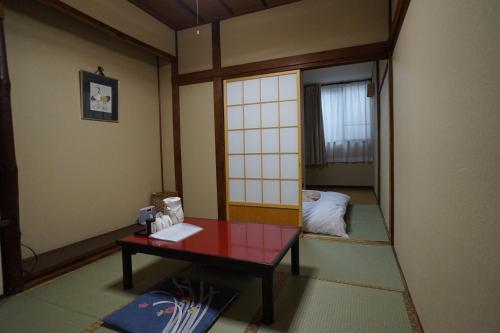 A seating area at Ryokan Katsutaro