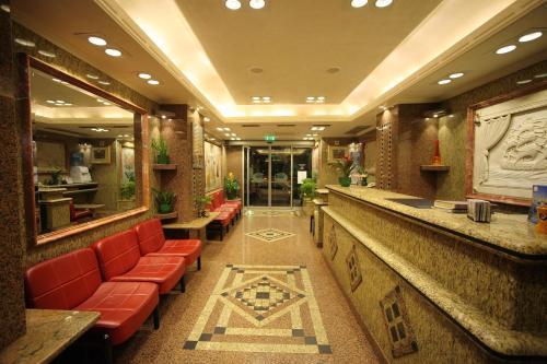 The lobby or reception area at Noufara