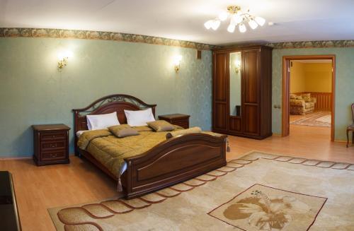 Кровать или кровати в номере Гостиница Булгар