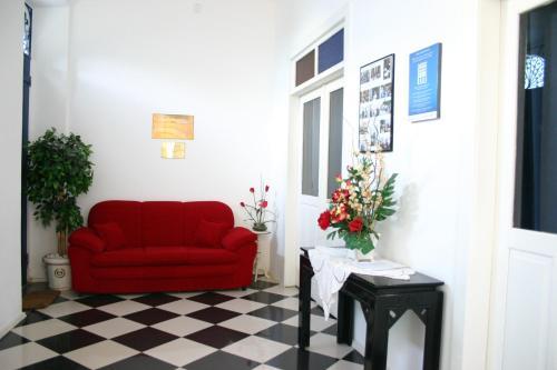 A seating area at Pousada Barroco na Bahia