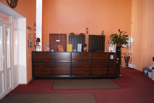 Лобби или стойка регистрации в Гостиница Причал
