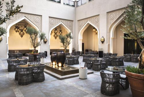 A restaurant or other place to eat at Manzil Downtown