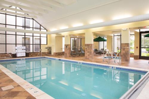 The swimming pool at or near Hampton Inn Clarks Summit
