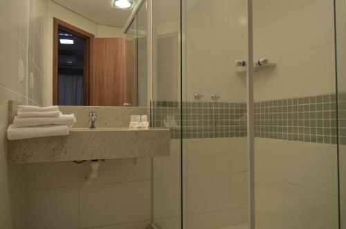 Um banheiro em Master Express Dom Pedro II - Aeroporto