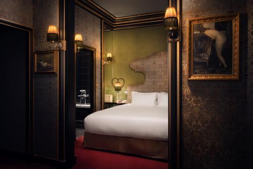 Cama ou camas em um quarto em Maison Souquet
