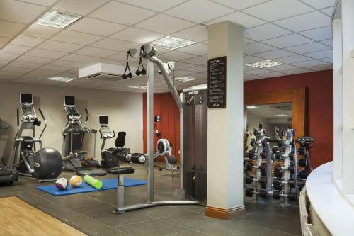 The fitness centre and/or fitness facilities at Hilton Dublin