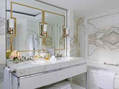 A bathroom at The Langham Sydney