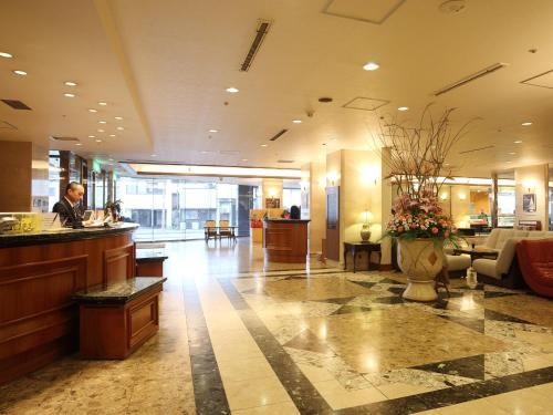 The lobby or reception area at Hotel Hakodate Royal Seaside BBH Hotel Group