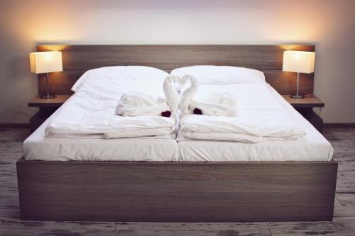 Posteľ alebo postele v izbe v ubytovaní Penzion Bowten