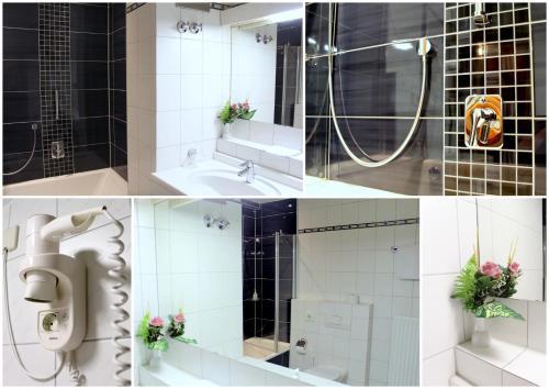 A bathroom at Hotel Am Josephsplatz