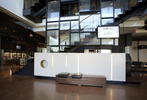 The lobby or reception area at Alt Hotel Toronto Airport