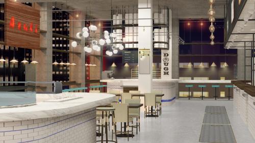 Um restaurante ou outro lugar para comer em Row NYC at Times Square