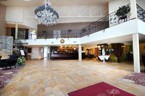 The lobby or reception area at Grand Rose SPA Hotel