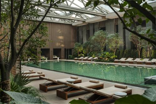 The swimming pool at or near Rosewood Beijing