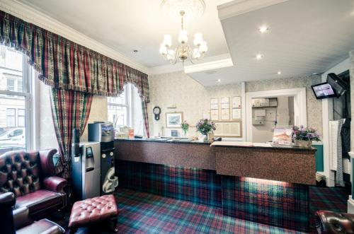 The lobby or reception area at Argyll Hotel