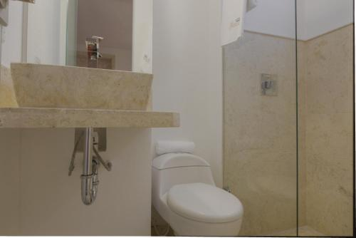 A bathroom at Hotel Boutique La Artilleria
