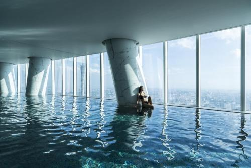 The swimming pool at or near Four Seasons Hotel Guangzhou