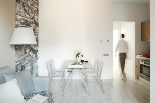 Coin salon dans l'établissement Eric Vökel Boutique Apartments - Gran Vía Suites