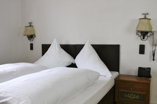 Cama o camas de una habitación en Gasthof Ölberg