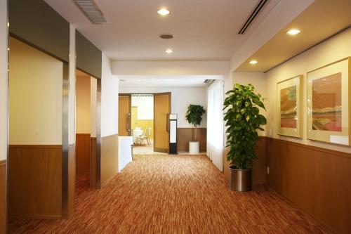 The lobby or reception area at Hotel Excel Okayama