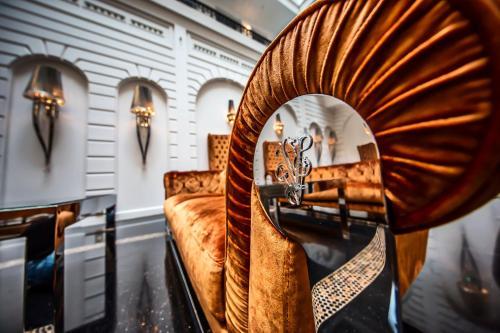 Coin salon dans l'établissement Prestige Hotel Budapest
