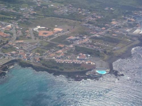 Blick auf Jeiroes Do Mar aus der Vogelperspektive