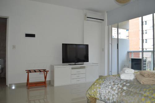 A television and/or entertainment center at Apartamento Ocio
