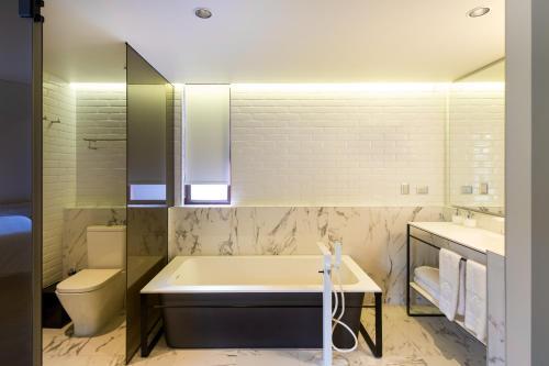 Um banheiro em Hotel Altiplanico Bellas Artes