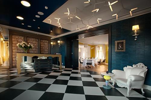 Hol lub recepcja w obiekcie Relais & Châteaux Hotel Quadrille