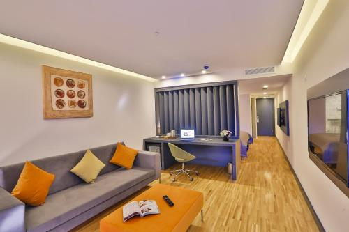 Et opholdsområde på Business Life Boutique Hotel & Spa