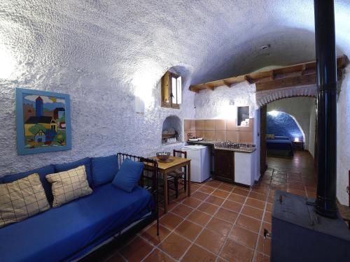 Zona de estar de Casas Cueva La Tala