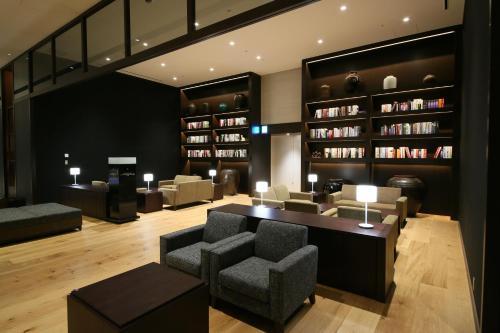 The lounge or bar area at Hotel Gracery Shinjuku