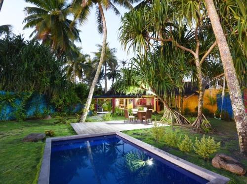 A piscina localizada em Villa Mitirapa ou nos arredores