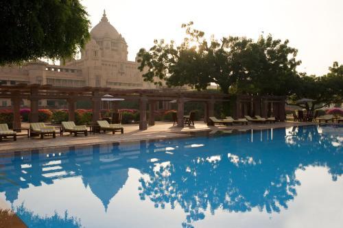 The swimming pool at or close to Umaid Bhawan Palace Jodhpur