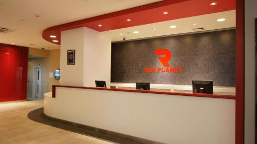 The lobby or reception area at Red Planet Okinawa Naha