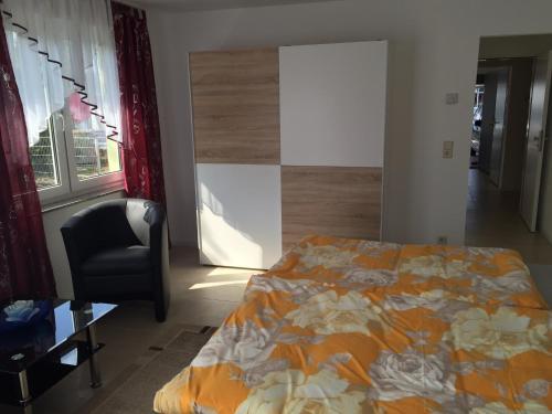 Ein Bett oder Betten in einem Zimmer der Unterkunft Gästezimmer Lindhardt