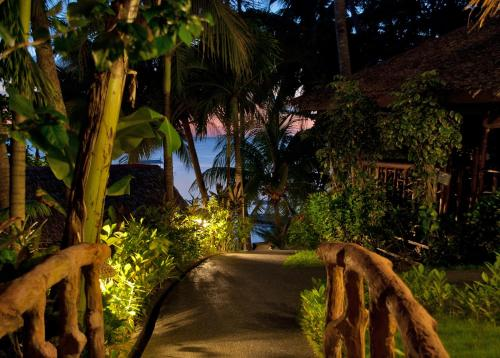 A garden outside Easy Diving and Beach Resort