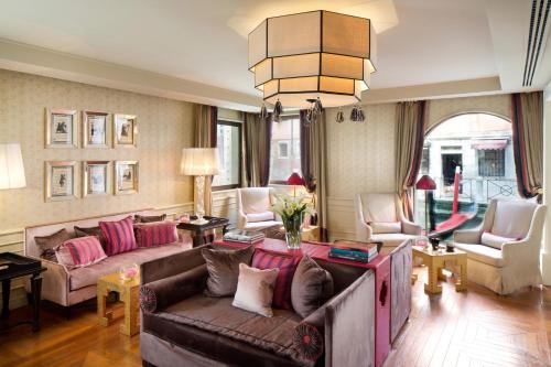Coin salon dans l'établissement Splendid Venice - Starhotels Collezione
