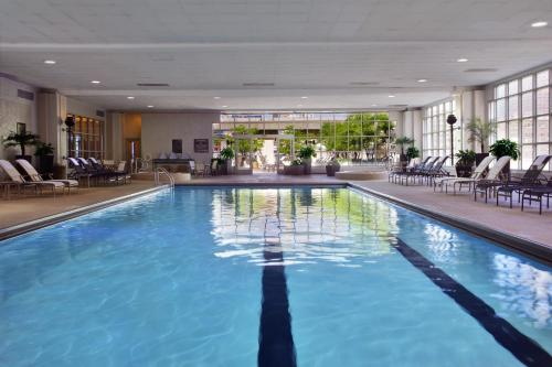 The swimming pool at or near Hilton Chicago