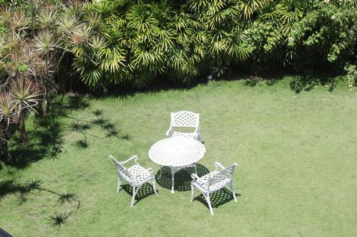 A garden outside Laluna Ayurveda Resort