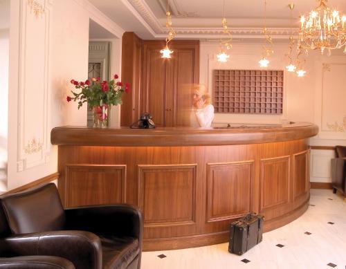 The lobby or reception area at Hotel Ippoliti