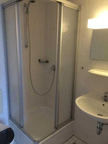 Ein Badezimmer in der Unterkunft Bürgerhof Katzenfurt